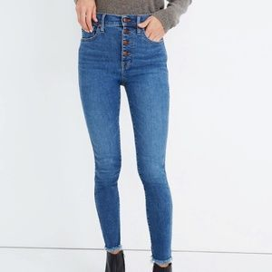 """10"""" High-Rise Skinny Button Front Jeans"""